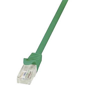 Retén de LogiLink RJ45 redes Cable CAT 6 U/UTP de 0.25 m verde incl.