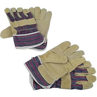 Brüder Mannesmann M41702 Top grain hogskin Protective glove Size (gloves): Unisize EN 89 / 686 2 pair
