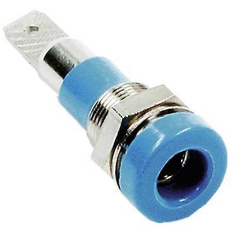 Jack socket Socket, vertical vertical Pin diameter: 4 mm Green Stäubli LB-I4R-A 1 pc(s)