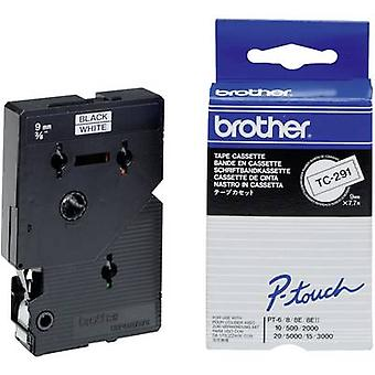 Labelling tape Brother TC-291 Tape colour: White Font colour: Black 9 mm 7.7 m