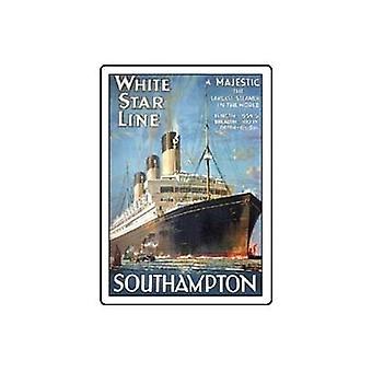 White Star Line Metal Fridge Magnet