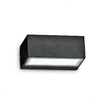 Ideal Lux Twin Wall Light Black