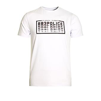 883 POLICE Clone Graphic Print T-Shirt | White