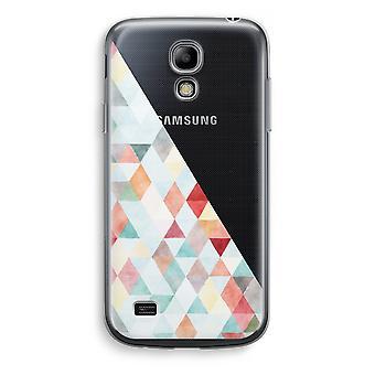 Samsung Galaxy S4 Mini Transparent Case - Coloured triangles pastel