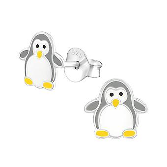 Penguin - 925 Sterling Silver Colourful Ear Studs - W37515x