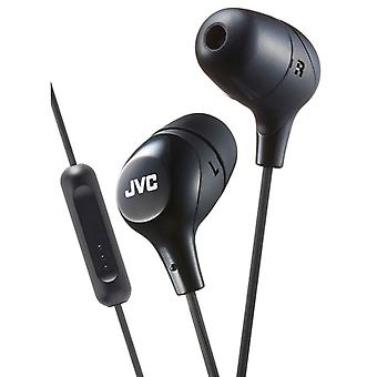 JVC HAFX38MB Marshmallow Custom Fit In-Ear Earphone with Remote & Mic - Black