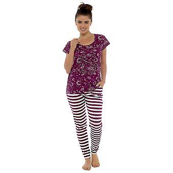 Tom Franks Womens Star Gazer Printed Combed Jersey Pyjamas