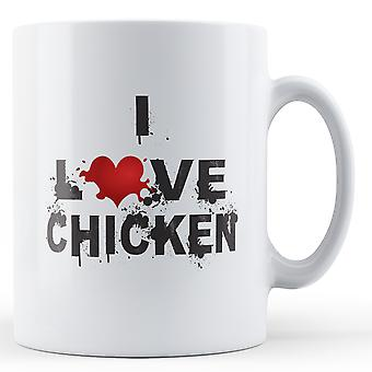 I Love Chicken printed mug