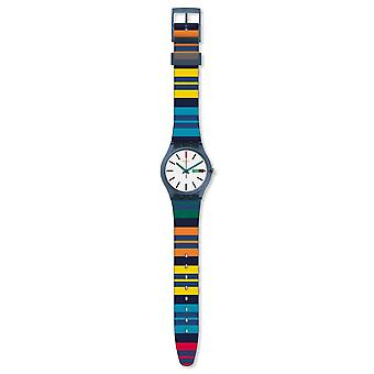 Swatch Gn724 Color Crossing Multi Colour Silicone Watch