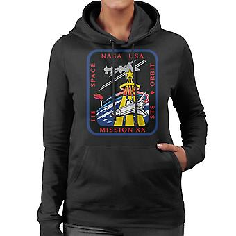 NASA STS 118 Space Shuttle Endeavour Mission Patch Women's Hooded Sweatshirt