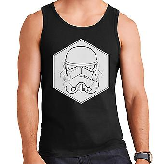 Original Stormtrooper Line Art Hexagon Men's Vest