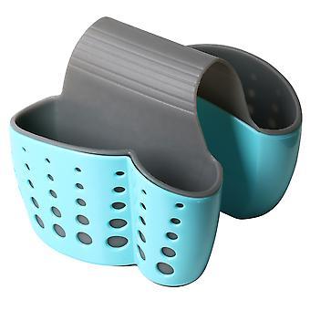 TRIXES lavabo doble silla carrito – cocina esponja soporte organizador palero - azul del ahorro de espacio