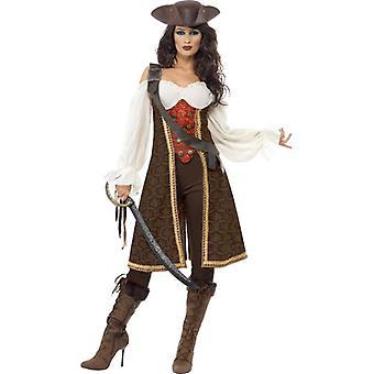 High Seas Pirate Wench Costume, UK Dress 12-14