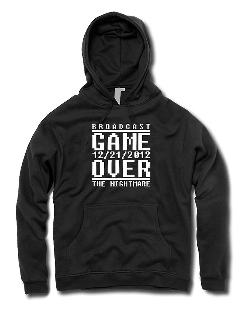 Mens Hoodie - Game Over 2012 Nightmare - Apocalypse End Days