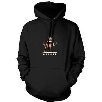 Womens Hoodie - Acoustic Guitar Strings