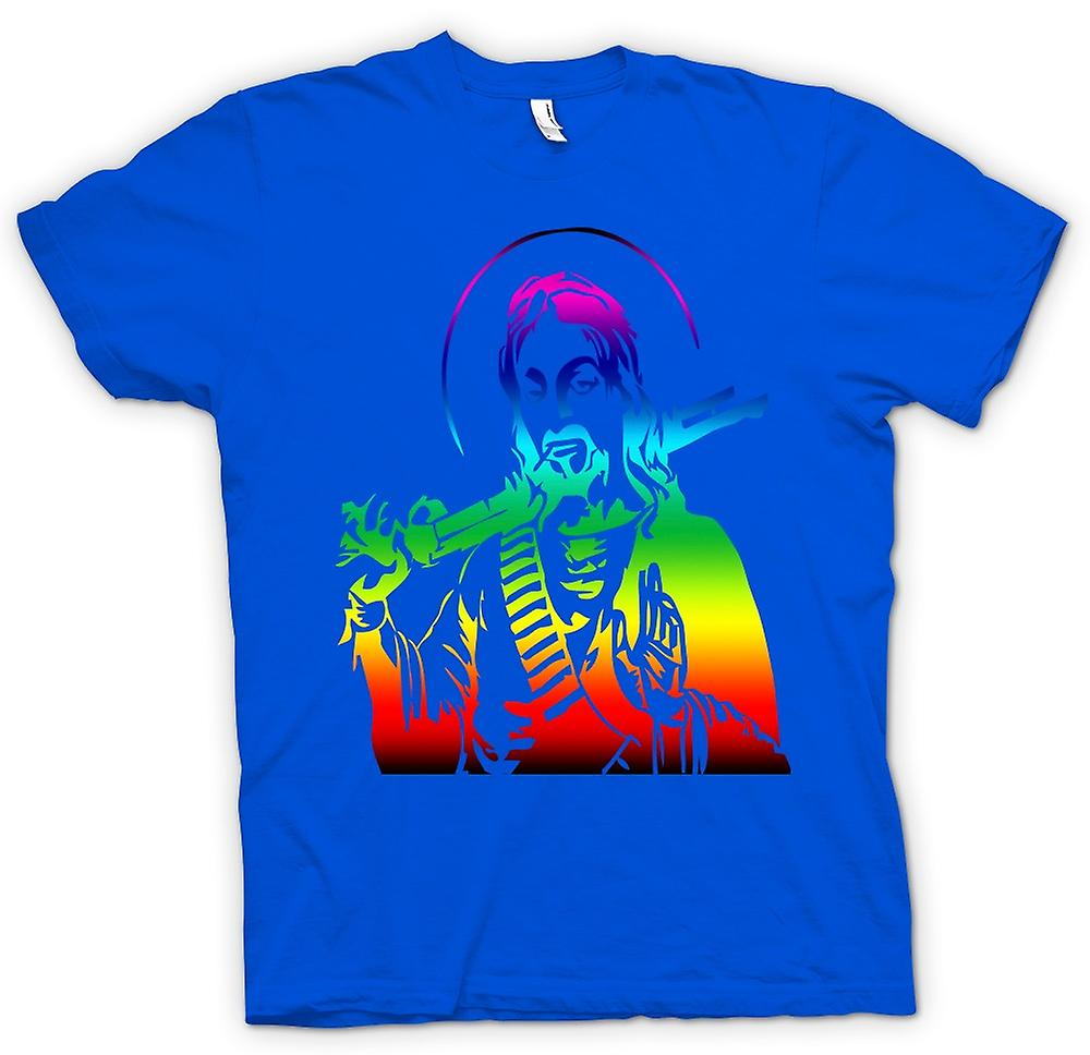 Mens t-skjorte - Jesus med en hagle - kule