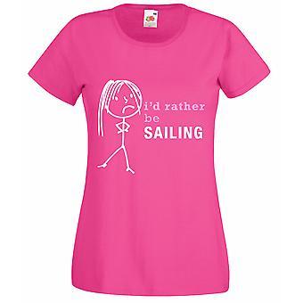 Damer havde jeg hellere sejle Hot Pink Tshirt