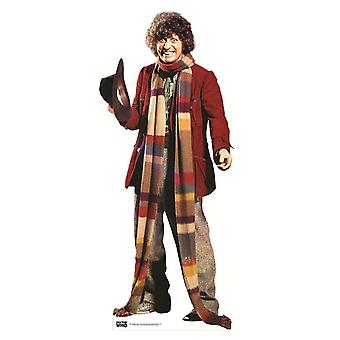 El 4 º Doctor Tom Baker Classic Doctor Who Lifesize cartulina recorte / pie
