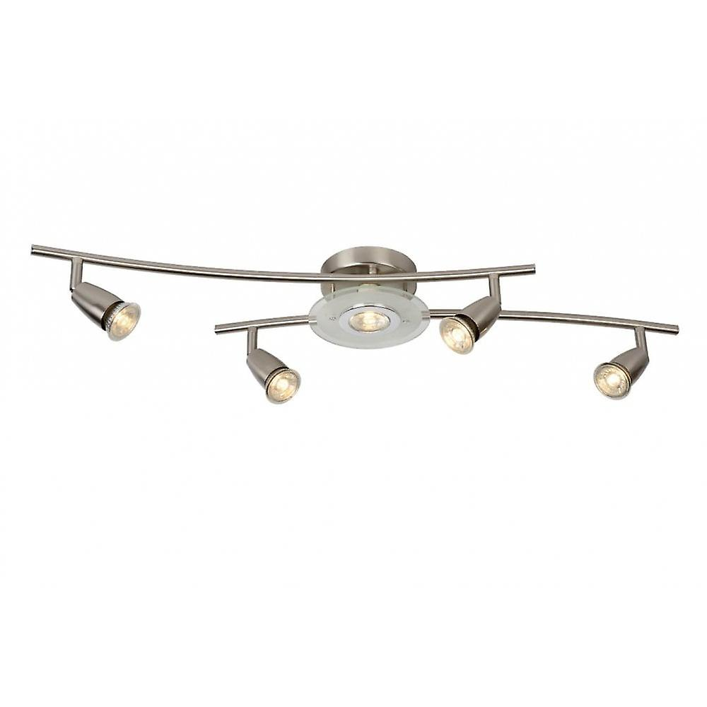 Lucide Bingo-LED Modern Metal Satin Chrome Ceiling Spot lumière
