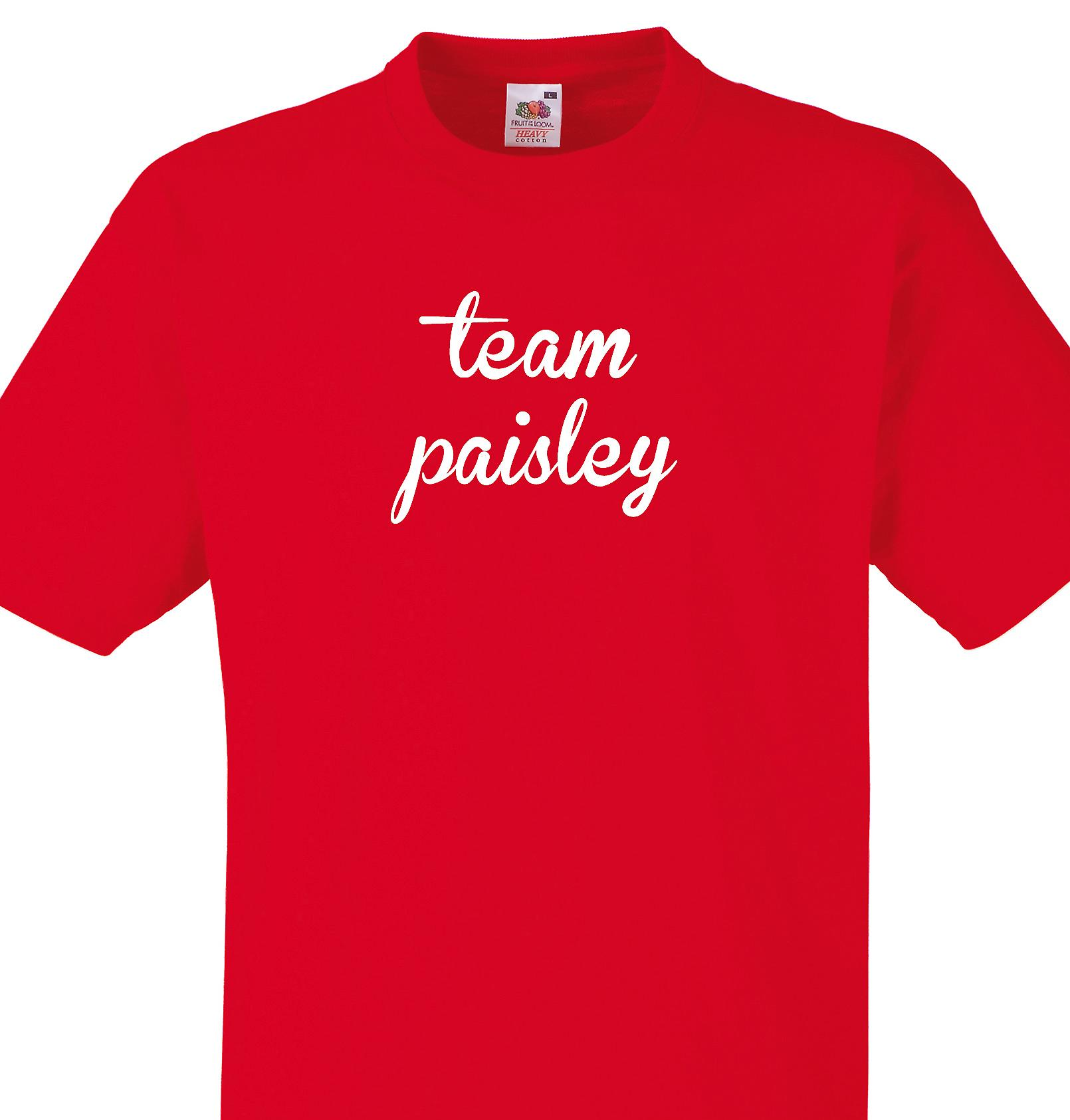Team Paisley Red T shirt