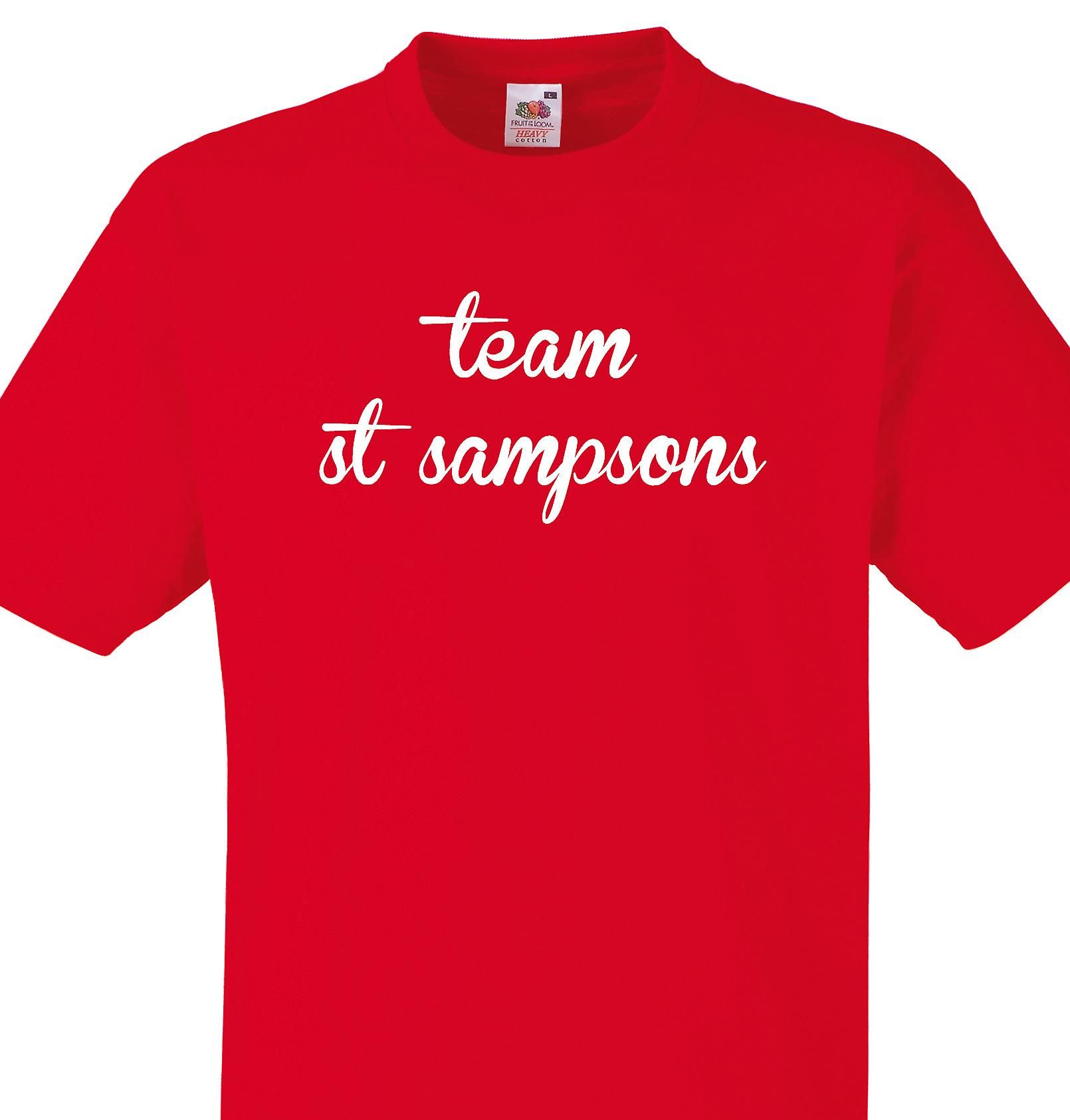 Team St sampsons Red T shirt