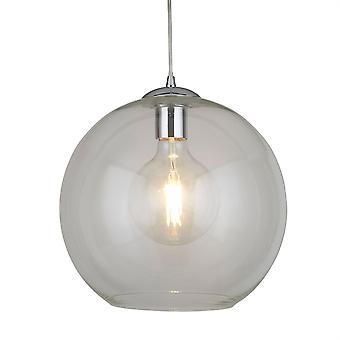 Bollar krom stort hängsmycke med klart glas - Searchlight 1632CL