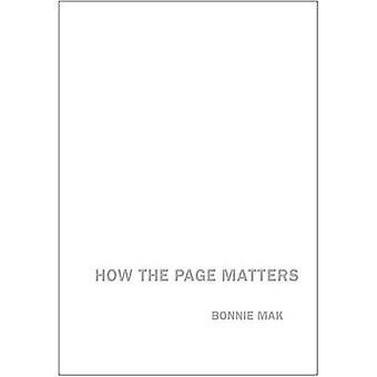 Como a página importa por Bonnie Mak - livro 9781442615359