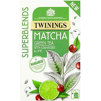 Twinings Superblends Matcha umhüllt Teebeutel