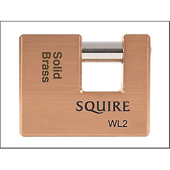 WL2 WAREHOUSE PADLOCK 70MM SOLID BRASS