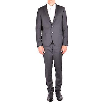 Manuel Ritz Grey Polyester Suit