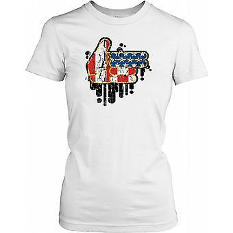 USA pistool Gun Hand - Cool Design dames T Shirt