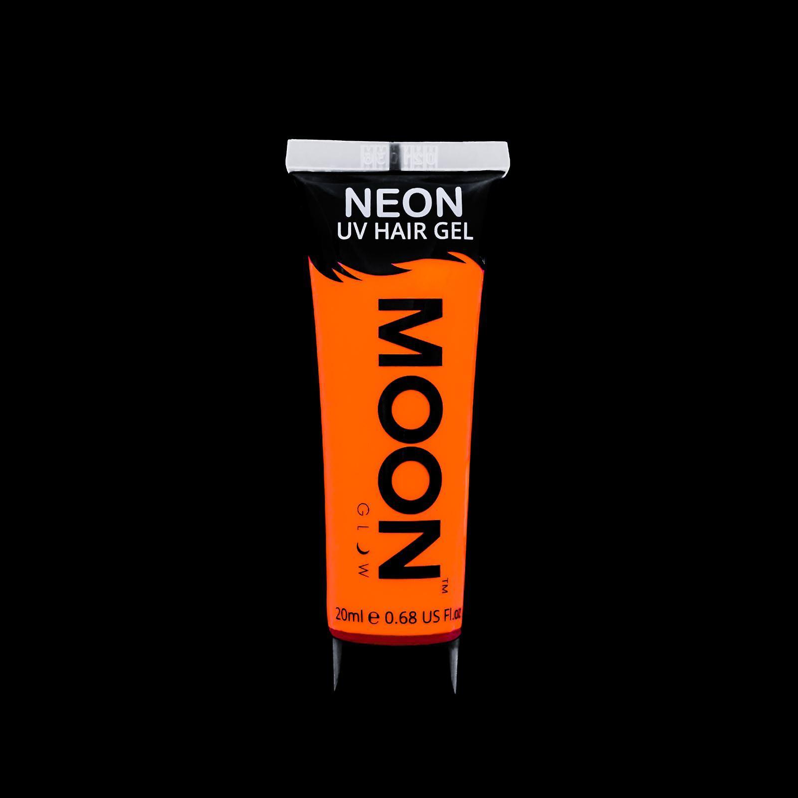 Moon Glow - 20ml Neon UV Hair Gel - Temporary Wash-out Hair Colour - Orange