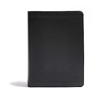 CSB He Reads Truth Bible, Black Leathertouch Indexed