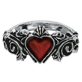 Alchemy Gothic Betrothal Pewter Ring