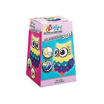 Pop Art 3d Sulpture -owl