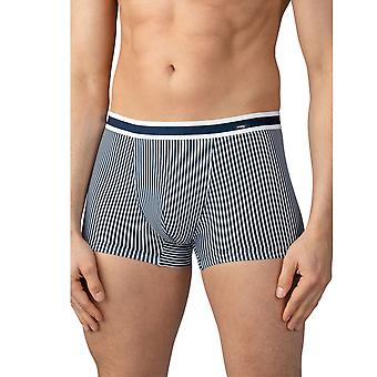 Mey Men 33421-668 Men's Stripe Yacht Blue Cotton Fitted Boxer