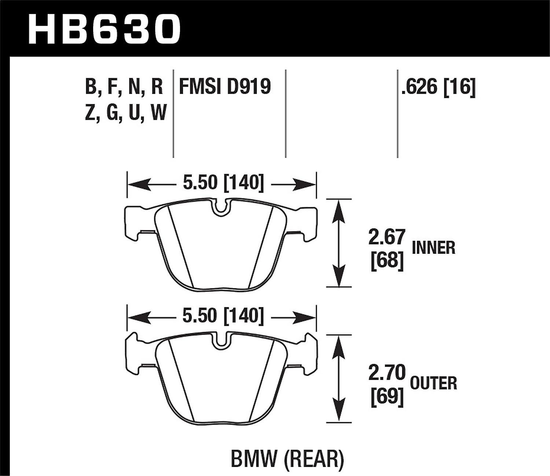 Hawk Perforhommece HB630B.626 HPS 5.0