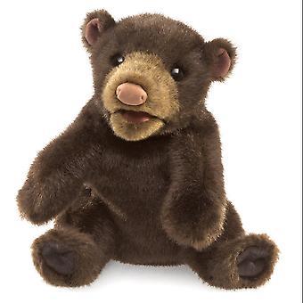 Hand Puppet - Folkmanis - Bear Small Black New Toys Soft Doll Plush 3107