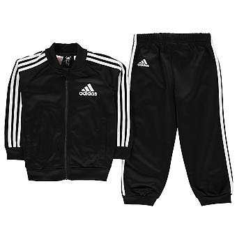 adidas Boys 3 Stripe Poly Tracksuit Joggers Set Infant