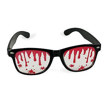 ホラー ハロウィンいたずらアクセサリー ゾンビの血の眼鏡