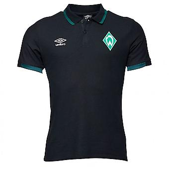 2019-2020 Werder Bremen Umbro CVC Polo Shirt (Black)