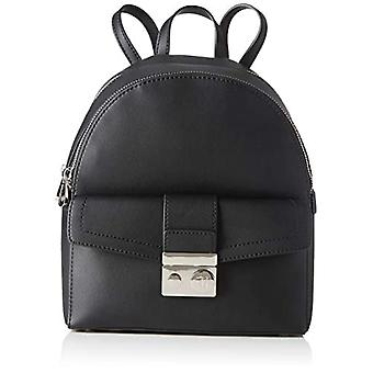 Trussardi Jeans with Love City Backpack MD Eco Black Women's Backpack (Black) 11.5x32x26 cm (W x H x L)