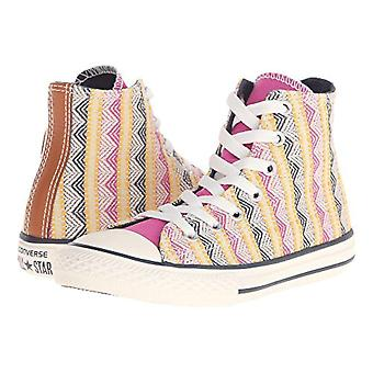 Kids Converse Girls All Star Hi Fabric Hight Top Lace Up Fashion Sneaker