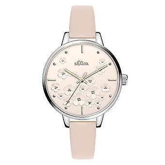 s.Oliver Quartz Women's Analog Clock with SO-3839-LQ Leather Belt