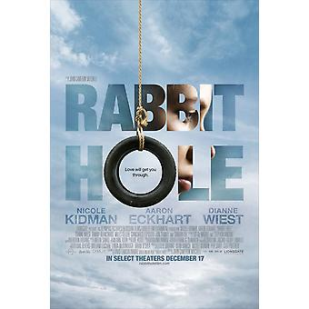 Rabbit Hole Poster (Style A) kaksipuolinen Regular (2010) alkuperäinen elokuva juliste