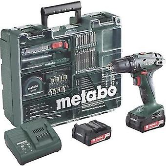 Metabo BS 14.4 Mobile Werkstatt Cordless drill 14.4 V 2 Ah Li-ion + spare battery, + accessories, + case