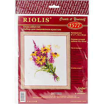 Bouquet With Coneflowers Counted Cross Stitch Kit-6