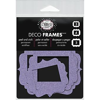 Glitter Dust Frame Assortment 10/Pkg-Vintage Purple DFRM-0404