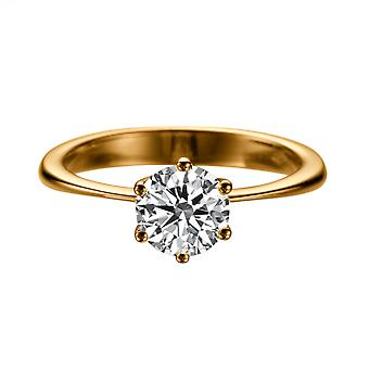 1.4 Carat H SI2 Diamond Engagement Ring 14K Rose Gold Solitaire Classic 6 prongs