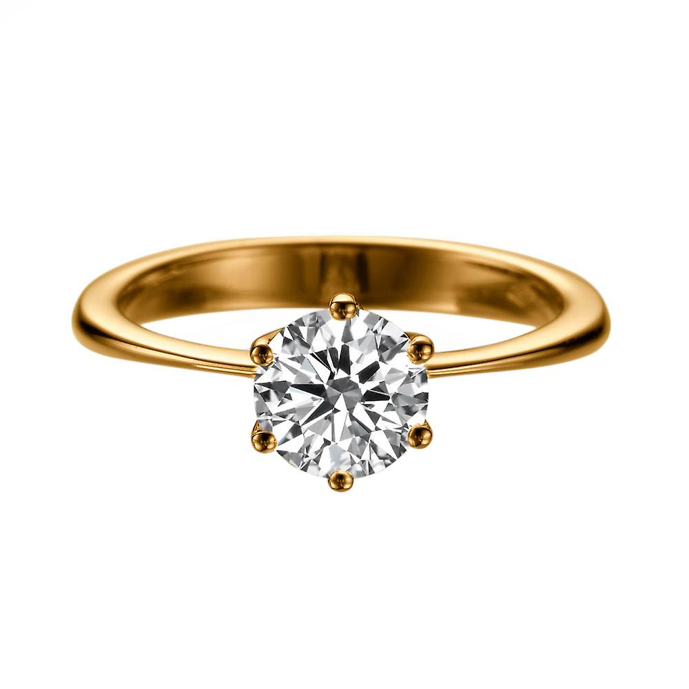 1.7 Carat H SI2 Diamond Engagement Ring 14K Rose Gold Solitaire Classic 6 prongs